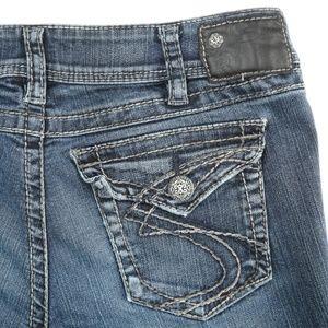 Silver Suki Surplus Dark Wash Mid Rise Jeans